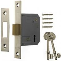 Era 3 Lever Mortice Deadlock 63mm - Finish: Brass Effect